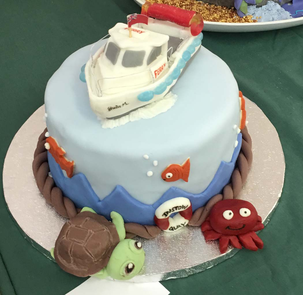 Sharon Hayne's Cake Competition winner a replica of the IAFL new Ferry Boat Sheila M.